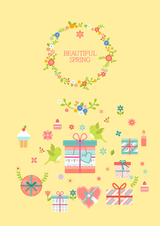 Beautiful spring infographic with icon