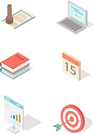 Set of various isometric icon Illustration
