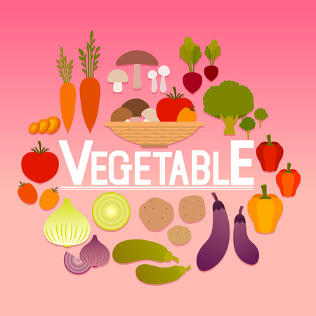 Set of various vegetable icon Иллюстрация