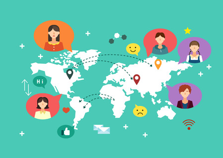 Global network icon Çizim