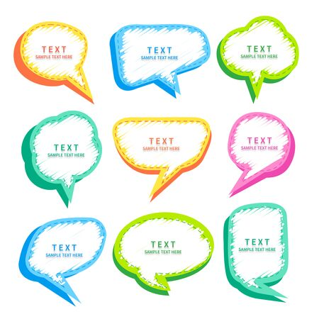 Set of various speech bubble