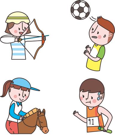 Set van sport levensstijl