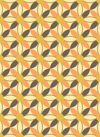Repeating overlapped flower pattern
