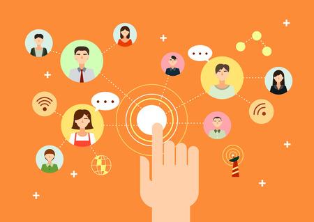 Communication network icon Çizim