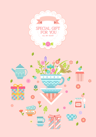 Special gift infographic with icon Illustration