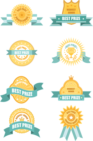 Set of best prize logo design