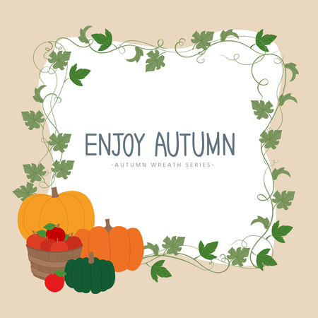 Enjoy autumn template design
