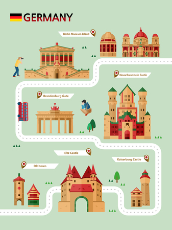 Germany attraction infographic with icon Reklamní fotografie - 90878418