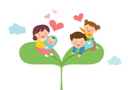 Harmonious family on sprout