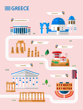 Greece attraction infographic with icon