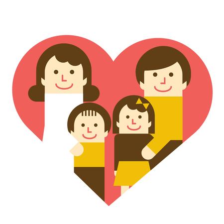 Harmonious Family with heart 版權商用圖片 - 90912219