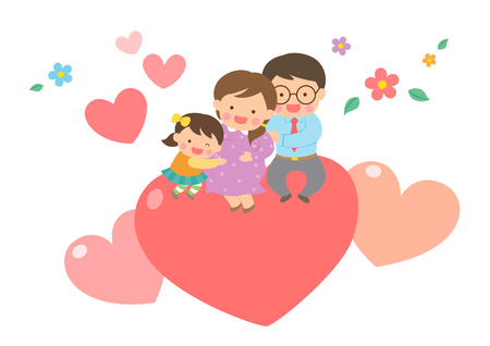 Harmonious family with heart