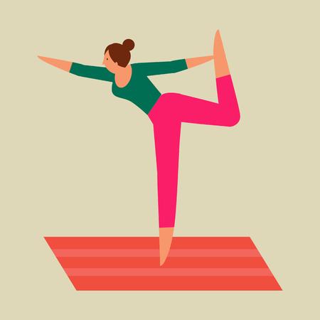 Beautiful woman doing Pilates