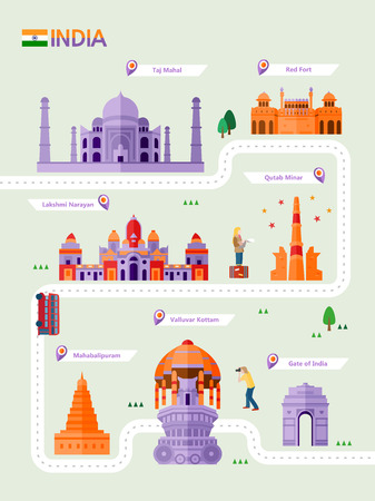 India attraction infographic with icon