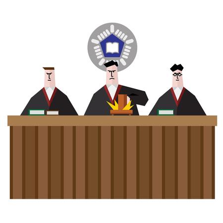 Judge make verdict in Court