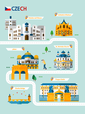 Czech attraction infographic with icon