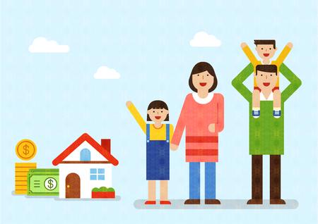 Harmonious family with smile