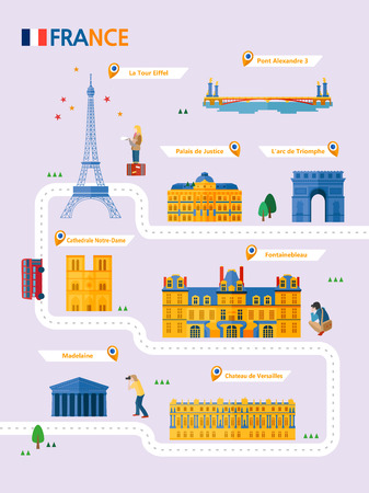 France attraction infographic with icon