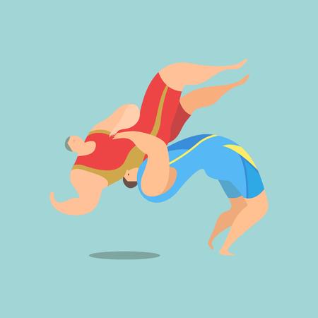 Athlete playing wrestling