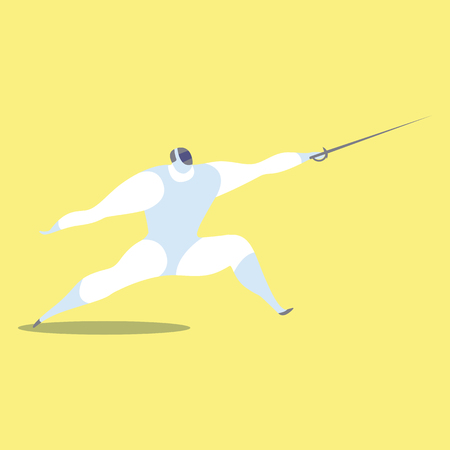 Athlete playing fencing