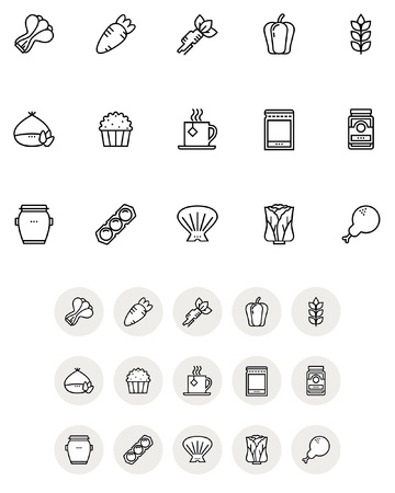 Set of various food icon, vector illustration.