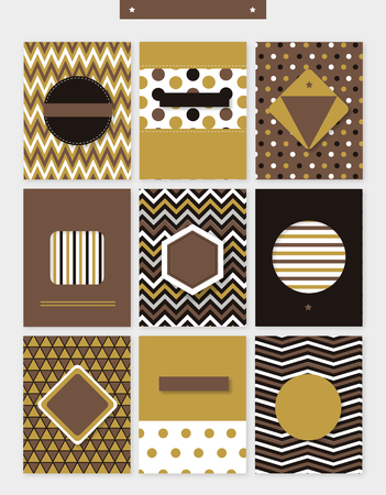 Set of various zigzag patterns template design.