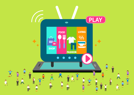 TV player application on mobile phone