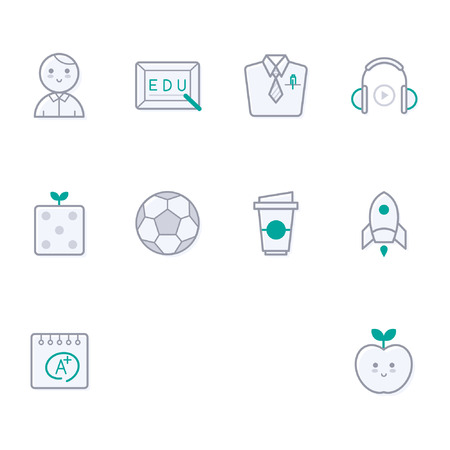 Set of various education icon, vector illustration.