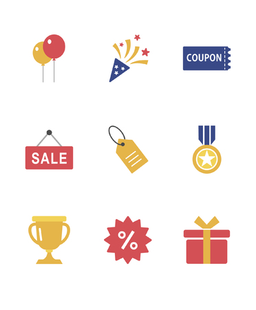 Set of various shopping icon, vector illustration.