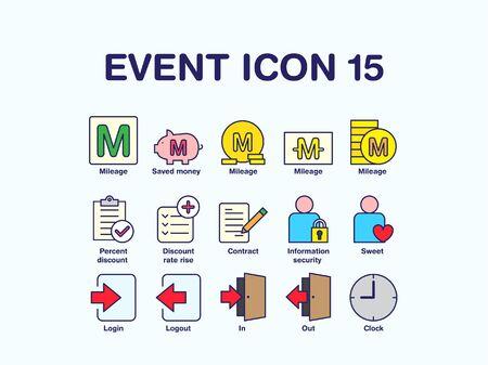 Set of various shopping icon
