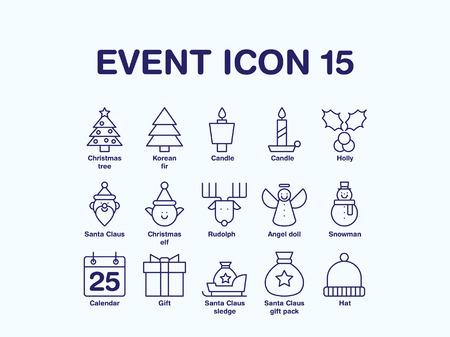 Set of various christmas icon