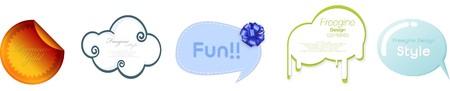 Set of speech bubble design template