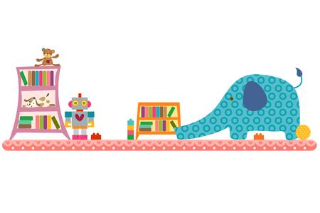 Kinderkamer, horizontaal ontwerp