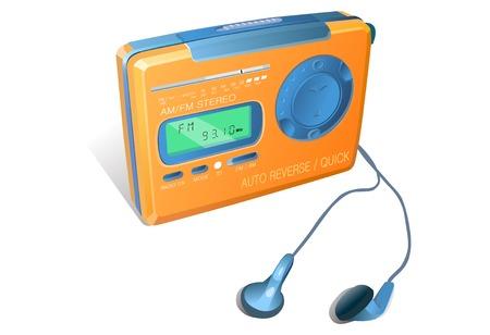 Isometric cassette player illustration Ilustração