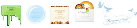 Set of event promotion design template