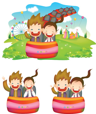 Children going on the rides