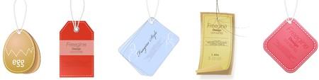 Set of gift tag design template Illustration