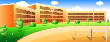 School en schoolplein