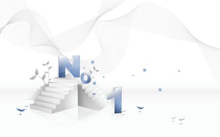 Stairs, Business digital graphic Ilustração