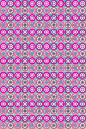 Repeating pink circle pattern Ilustração