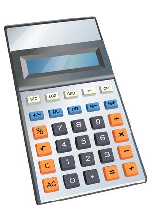 Isometric calculator illustration