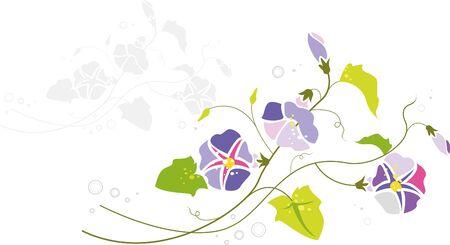 抽象的な花の印刷されたテンプレート  イラスト・ベクター素材