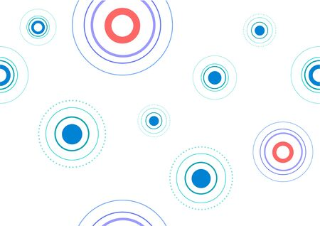 Abstract circle pattern template