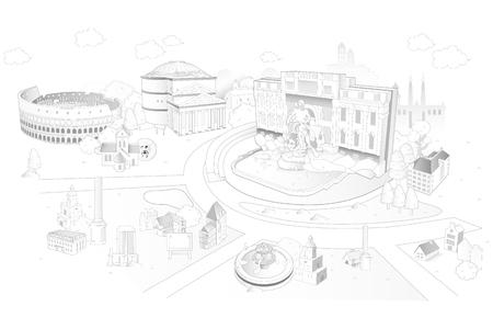 rome landmark illustrated