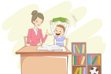 Student and tutor illustration Ilustrace