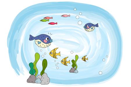 La vida marina en el océano Vectores