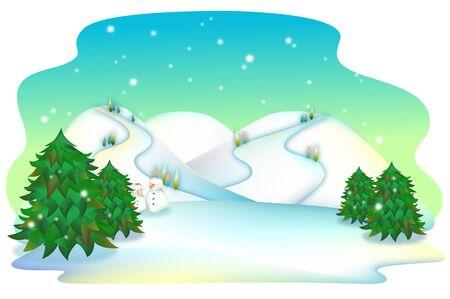 화이트 크리스마스에 겨울 나라 도로