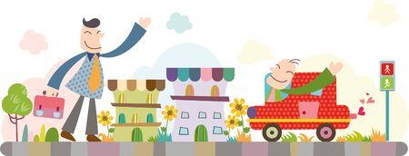 Businessmen greeting with smile Illustration