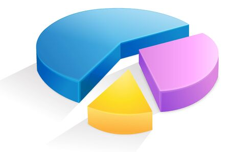 Separated pie graph. Иллюстрация