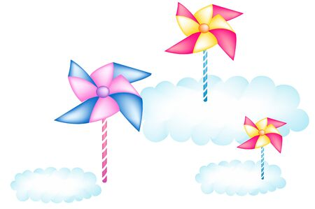 Pinwheel illustration Illustration